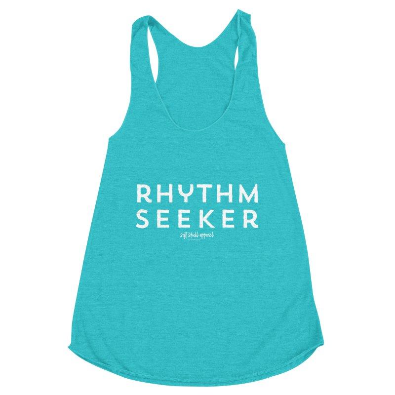 Rhythm Seeker Women's Racerback Triblend Tank by iamthepod's Artist Shop