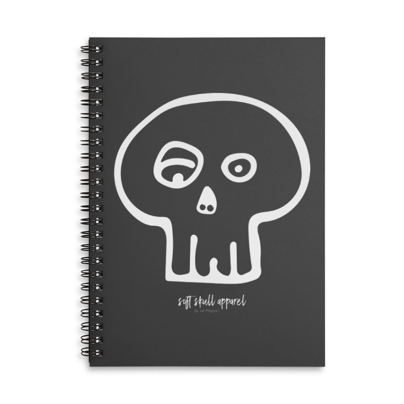 Soft Skull Accessories Lined Spiral Notebook by iamthepod's Artist Shop