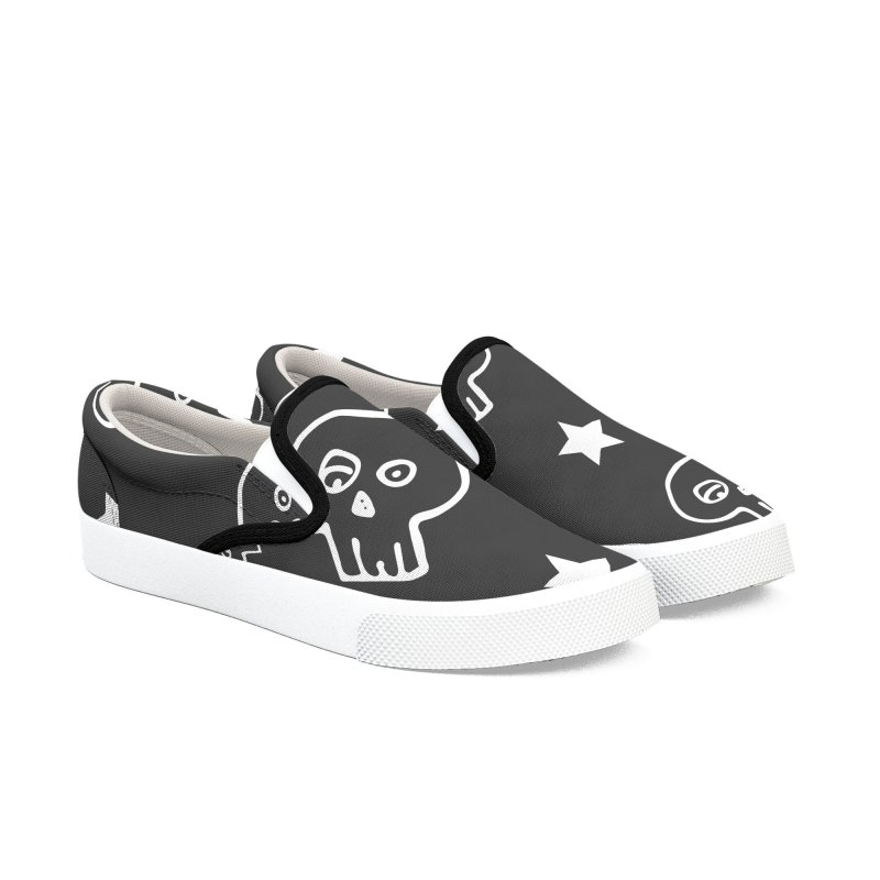 Soft Skull One Men's Slip-On Shoes by iamthepod's Artist Shop