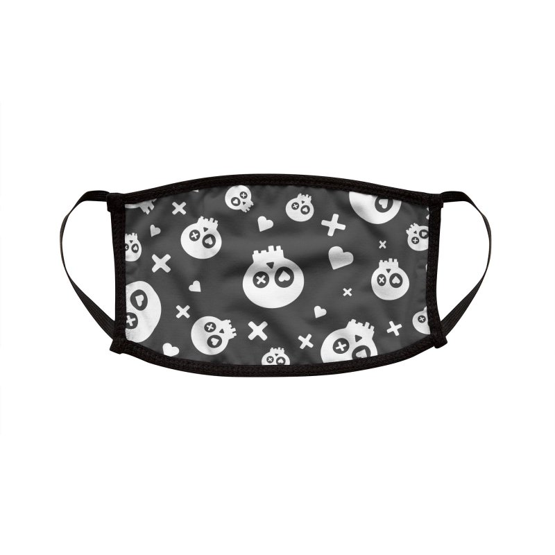 Punch Drunk Love Skull One Accessories Face Mask by iamthepod's Artist Shop