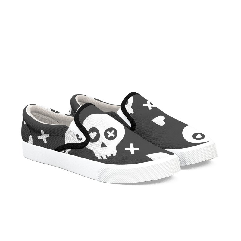 Punch Drunk Love Skull One Men's Slip-On Shoes by iamthepod's Artist Shop