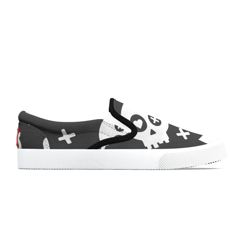 Punch Drunk Love Skull One Men's Shoes by iamthepod's Artist Shop