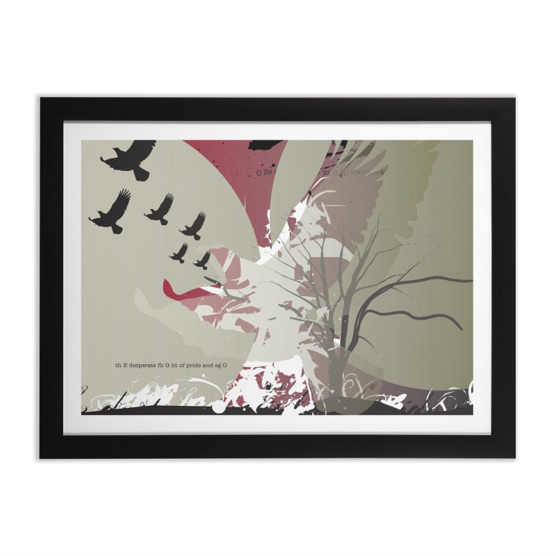 The Desperate Flight of Pride and Ego in Framed Fine Art Print Black by iamthepod's Artist Shop