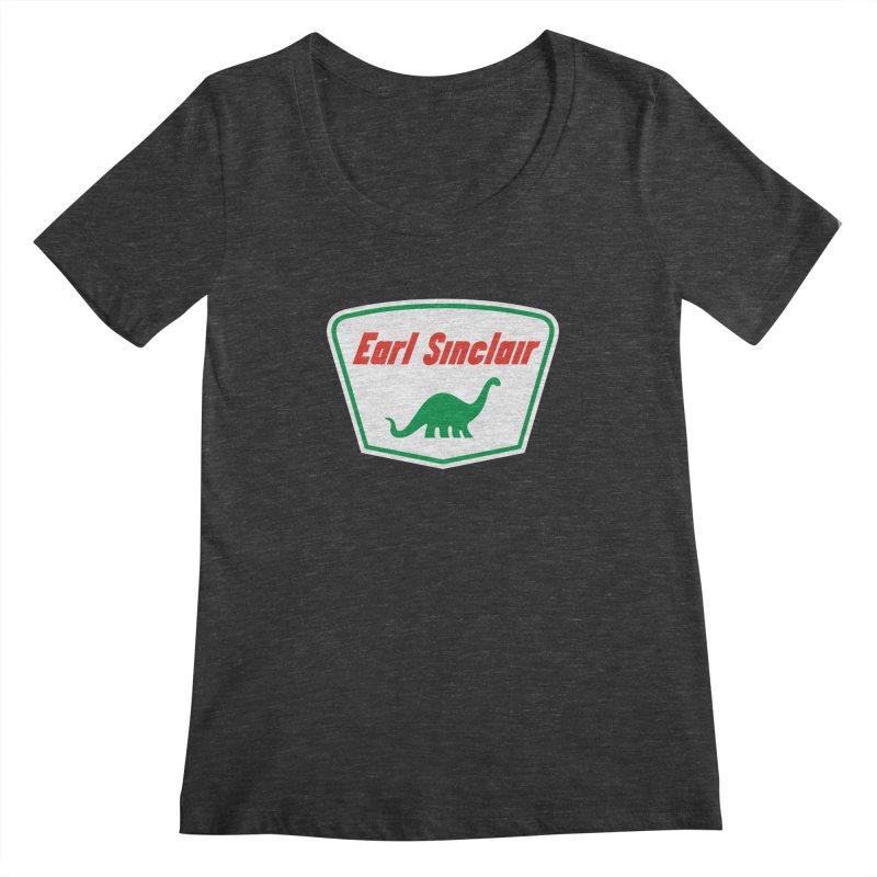 The Mighty Megalosaurus Women's Scoopneck by Ian Glaubinger on Threadless!