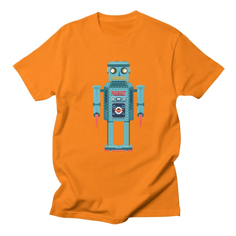 Mr. Robot in Men's Regular T-Shirt Orange by Ian Glaubinger on Threadless!