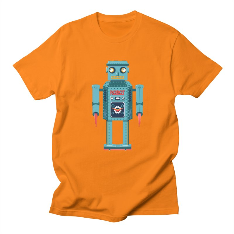Mr. Robot in Men's T-Shirt Orange by Ian Glaubinger on Threadless!