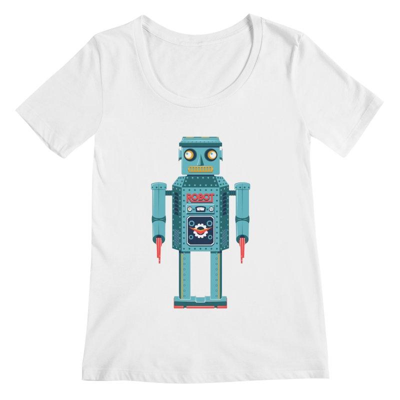 Mr. Robot Women's Regular Scoop Neck by Ian Glaubinger on Threadless!