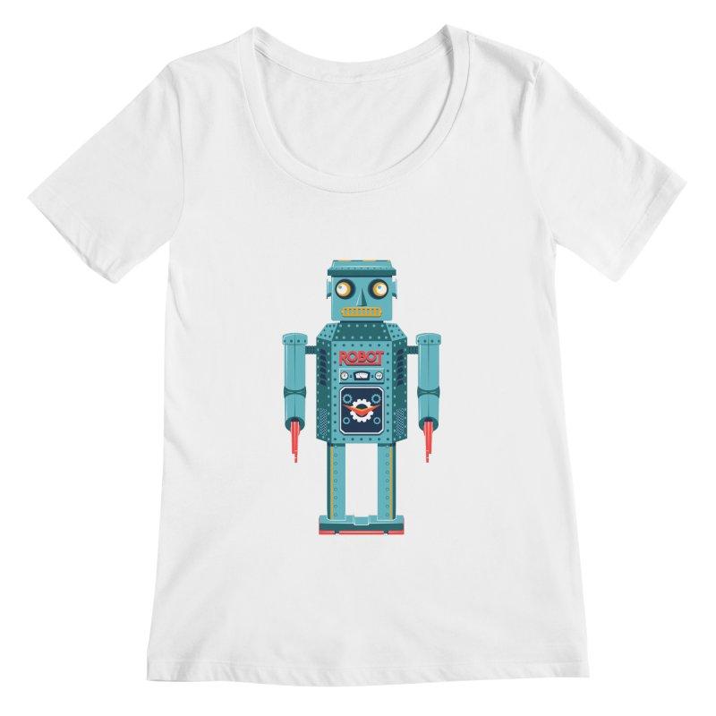 Mr. Robot Women's Scoopneck by Ian Glaubinger on Threadless!