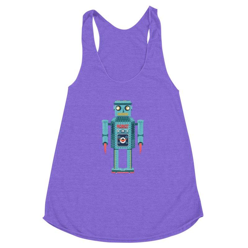 Mr. Robot Women's Racerback Triblend Tank by Ian Glaubinger on Threadless!
