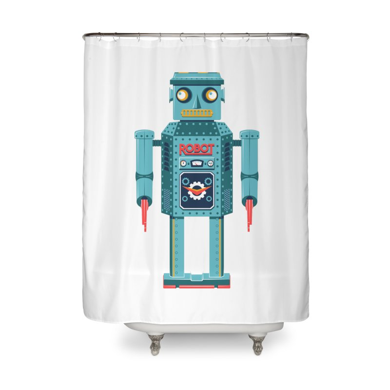 Mr. Robot Home Shower Curtain by Ian Glaubinger on Threadless!