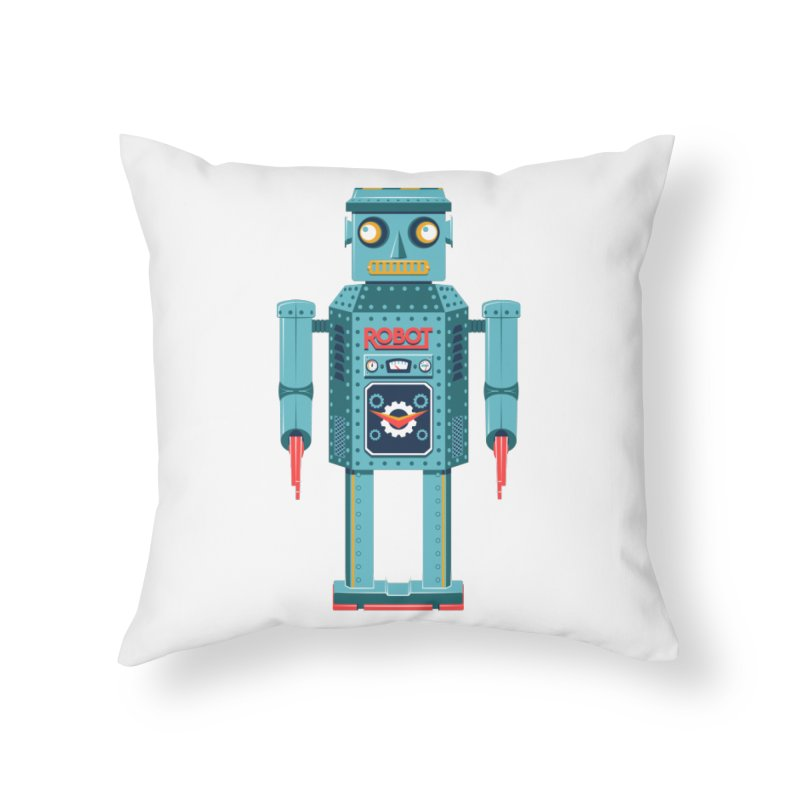 Mr. Robot Home Throw Pillow by Ian Glaubinger on Threadless!