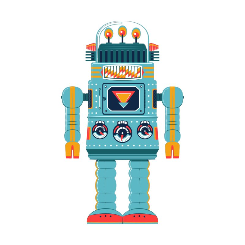 Space Robot by Ian Glaubinger on Threadless!