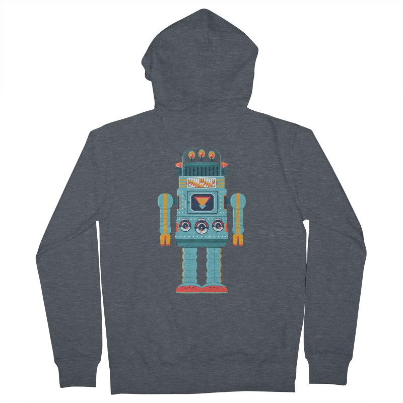Space Robot Men's French Terry Zip-Up Hoody by Ian Glaubinger on Threadless!