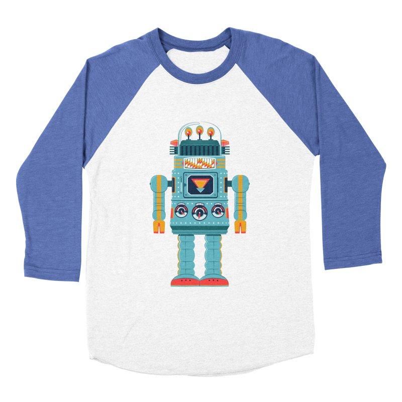 Space Robot Men's Baseball Triblend Longsleeve T-Shirt by Ian Glaubinger on Threadless!