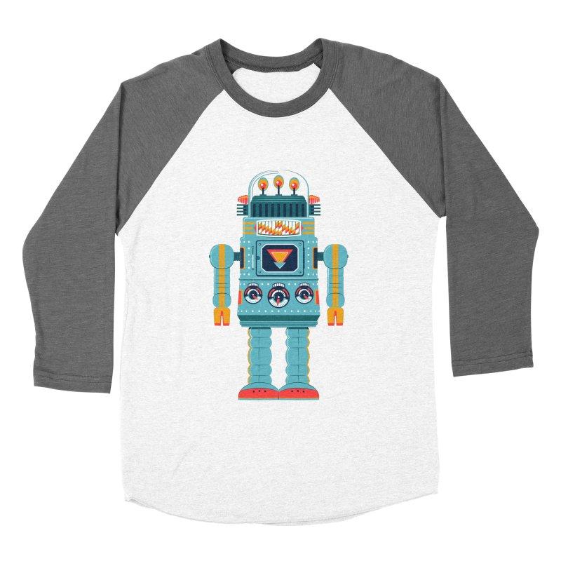 Space Robot Men's Baseball Triblend T-Shirt by Ian Glaubinger on Threadless!