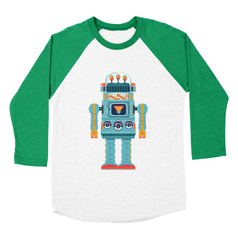 Space Robot Men's Baseball Triblend T-Shirt by Ian Glaubinger on Threadless!