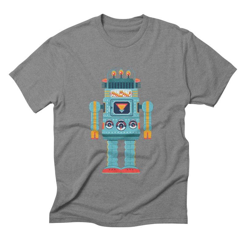 Space Robot Men's Triblend T-shirt by Ian Glaubinger on Threadless!
