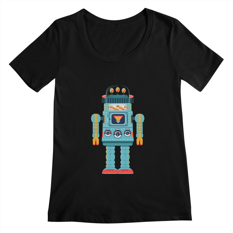 Space Robot Women's Scoopneck by Ian Glaubinger on Threadless!