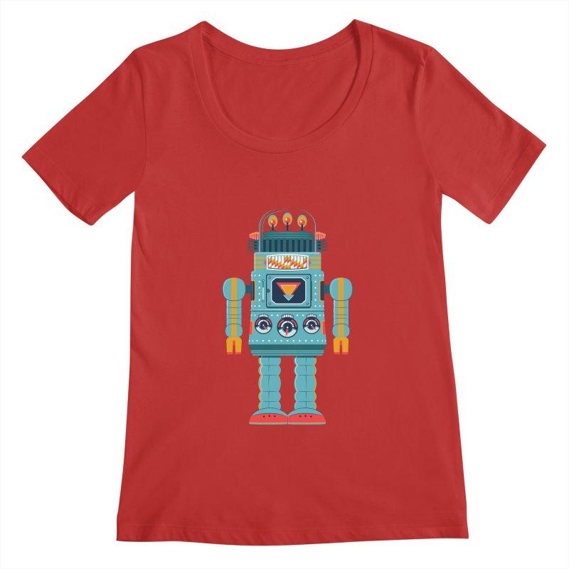 Space Robot Women's Regular Scoop Neck by Ian Glaubinger on Threadless!