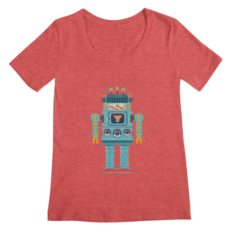 Space Robot Women's Scoopneck by Ian Glaubinger on Threadless!