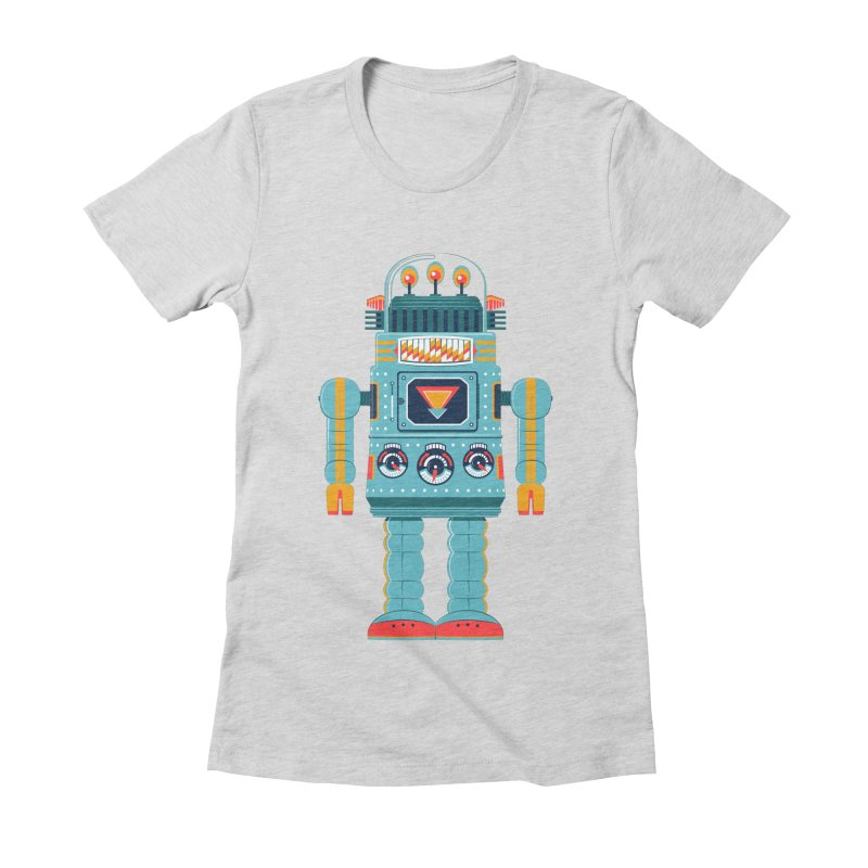Space Robot Women's Fitted T-Shirt by Ian Glaubinger on Threadless!