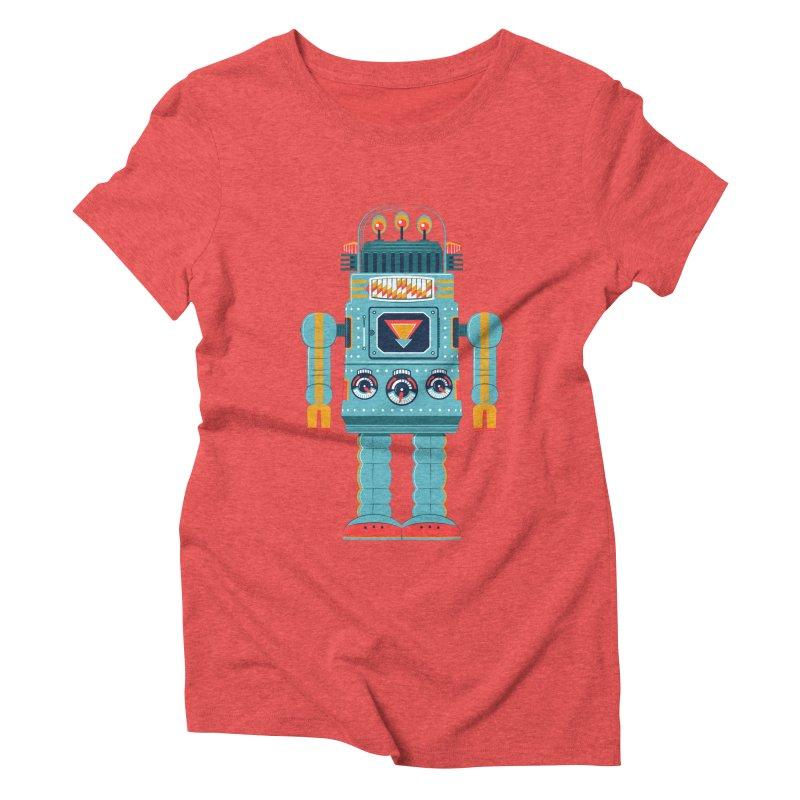 Space Robot Women's Triblend T-shirt by Ian Glaubinger on Threadless!