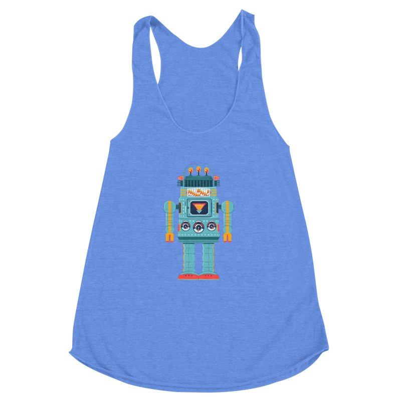 Space Robot Women's Racerback Triblend Tank by Ian Glaubinger on Threadless!