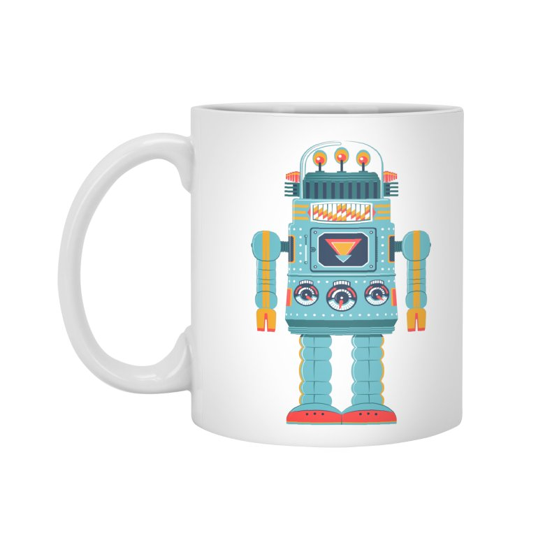 Space Robot Accessories Mug by Ian Glaubinger on Threadless!