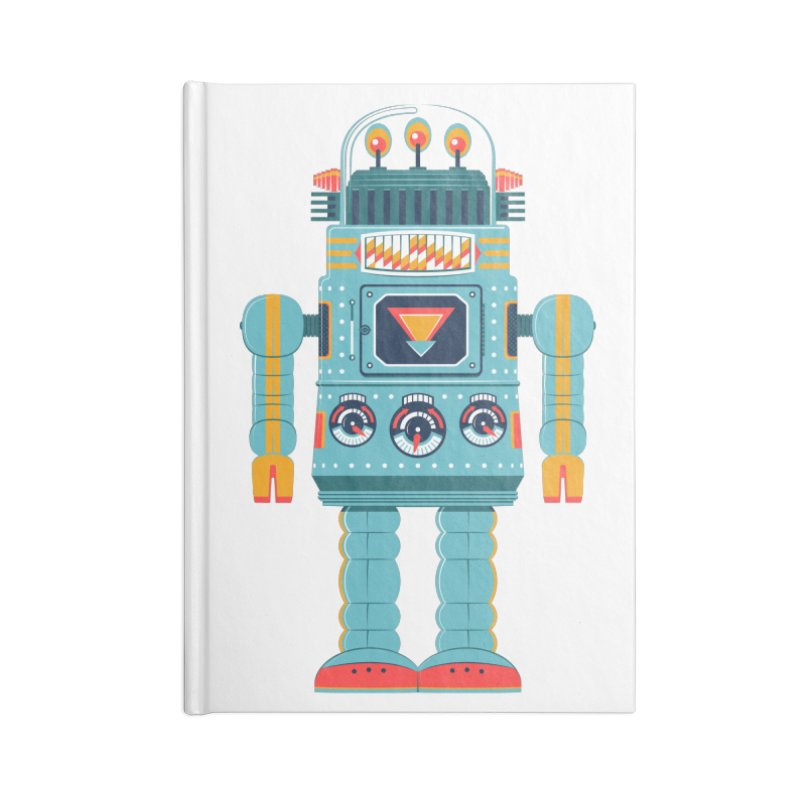 Space Robot Accessories Blank Journal Notebook by Ian Glaubinger on Threadless!