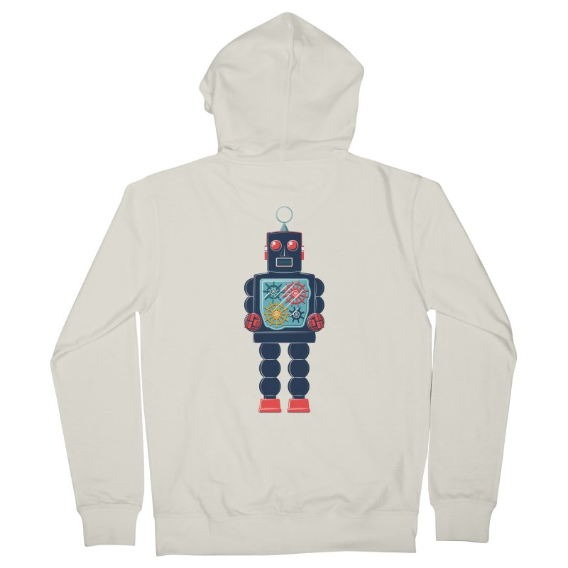 GearBot Men's French Terry Zip-Up Hoody by Ian Glaubinger on Threadless!