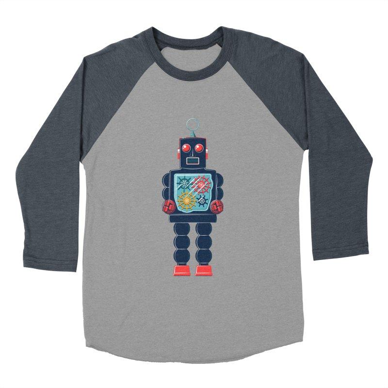 GearBot Women's Baseball Triblend T-Shirt by Ian Glaubinger on Threadless!