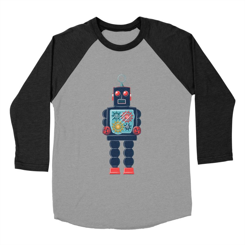 GearBot Men's Baseball Triblend T-Shirt by Ian Glaubinger on Threadless!