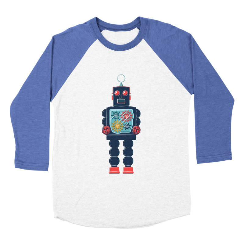 GearBot Men's Baseball Triblend Longsleeve T-Shirt by Ian Glaubinger on Threadless!
