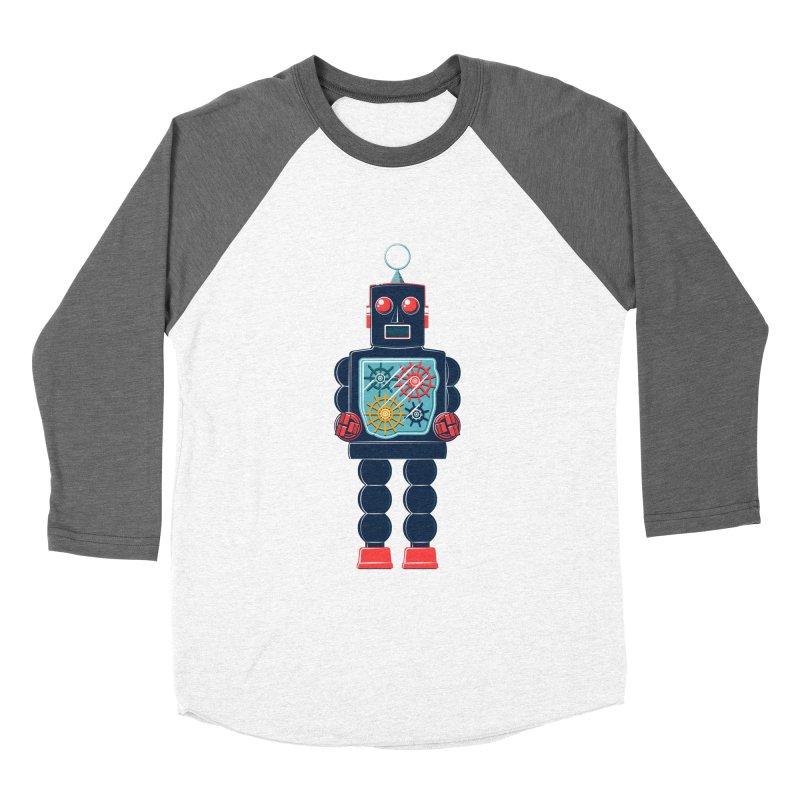 GearBot Men's Baseball Triblend T-Shirt by Ian Glaubinger on Threadless!
