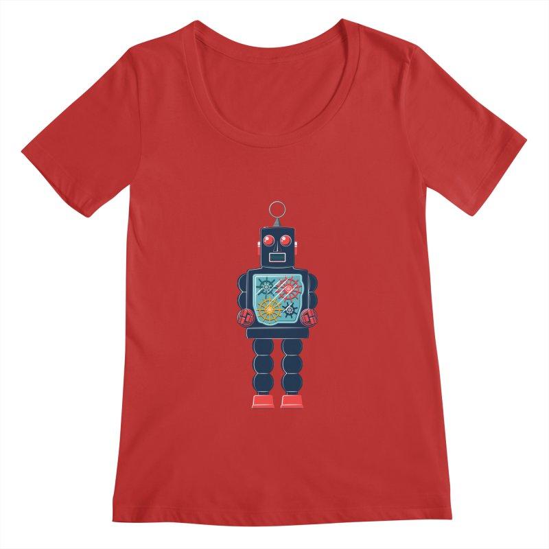 GearBot Women's Scoopneck by Ian Glaubinger on Threadless!