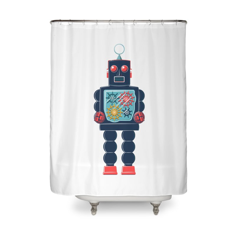 GearBot Home Shower Curtain by Ian Glaubinger on Threadless!