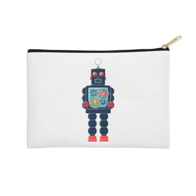 GearBot Accessories Zip Pouch by Ian Glaubinger on Threadless!