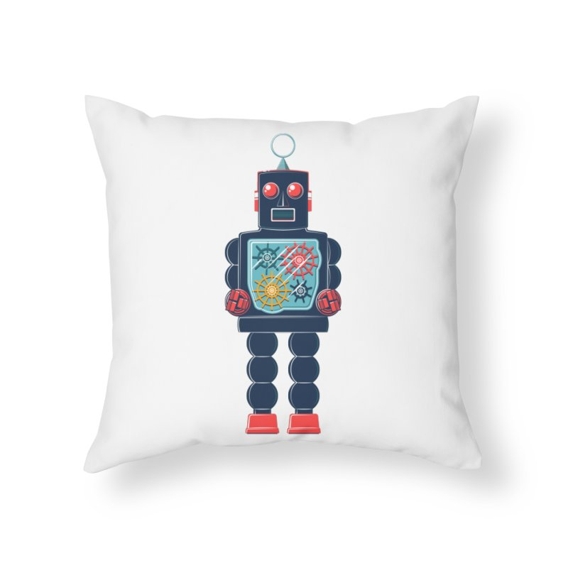 GearBot Home Throw Pillow by Ian Glaubinger on Threadless!