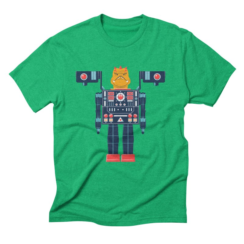 LizardBot in Men's Triblend T-Shirt Tri-Kelly by Ian Glaubinger on Threadless!