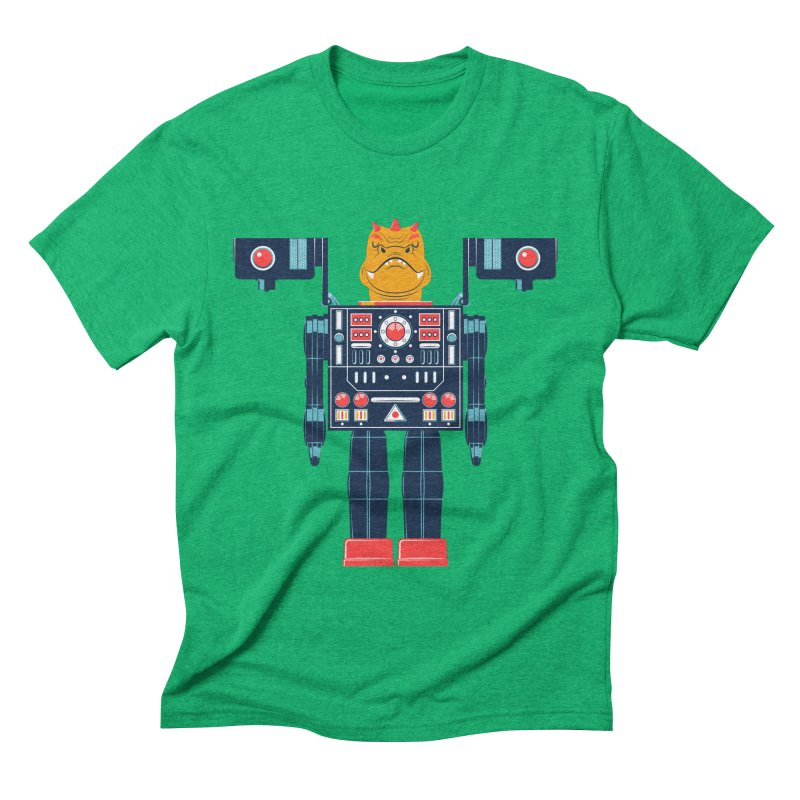 LizardBot Men's Triblend T-shirt by Ian Glaubinger on Threadless!