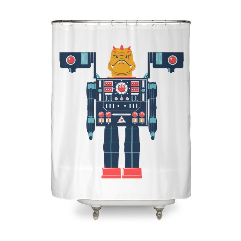 LizardBot Home Shower Curtain by Ian Glaubinger on Threadless!