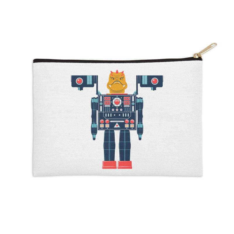 LizardBot Accessories Zip Pouch by Ian Glaubinger on Threadless!