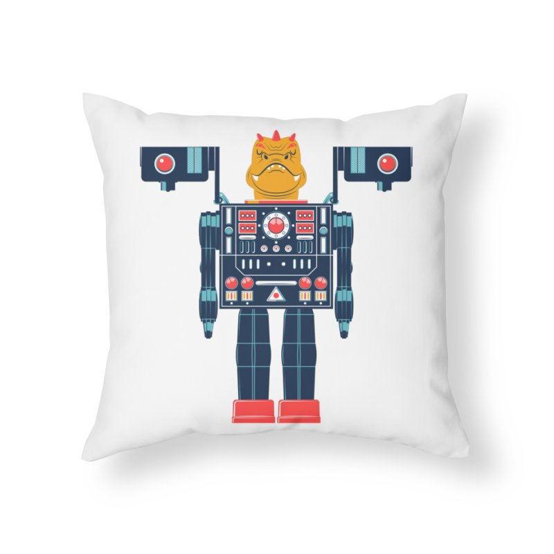 LizardBot Home Throw Pillow by Ian Glaubinger on Threadless!