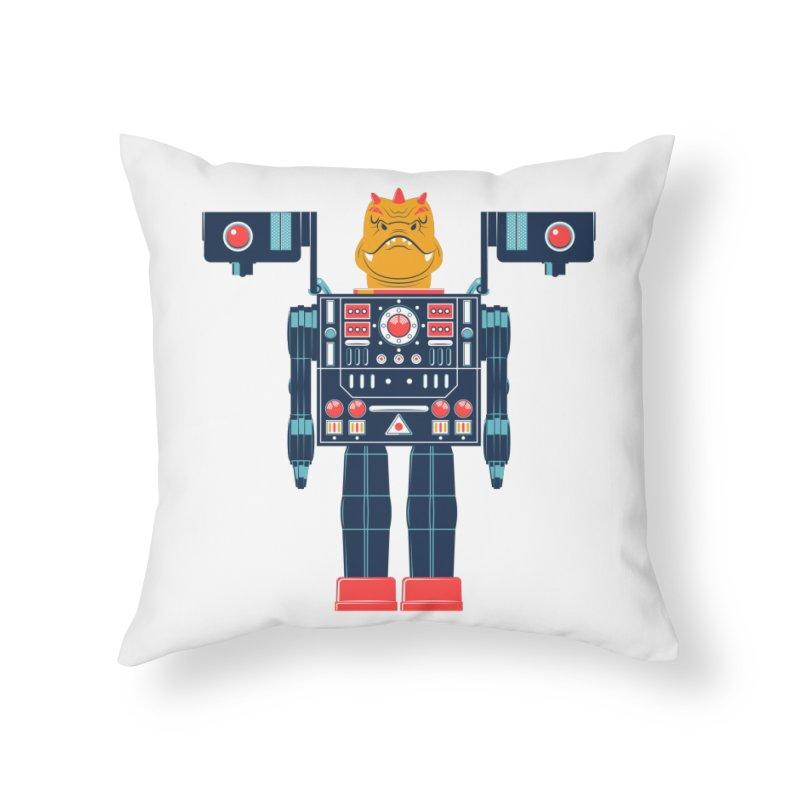 LizardBot Home Throw Pillow by Ian Glaubinger on Threadless!