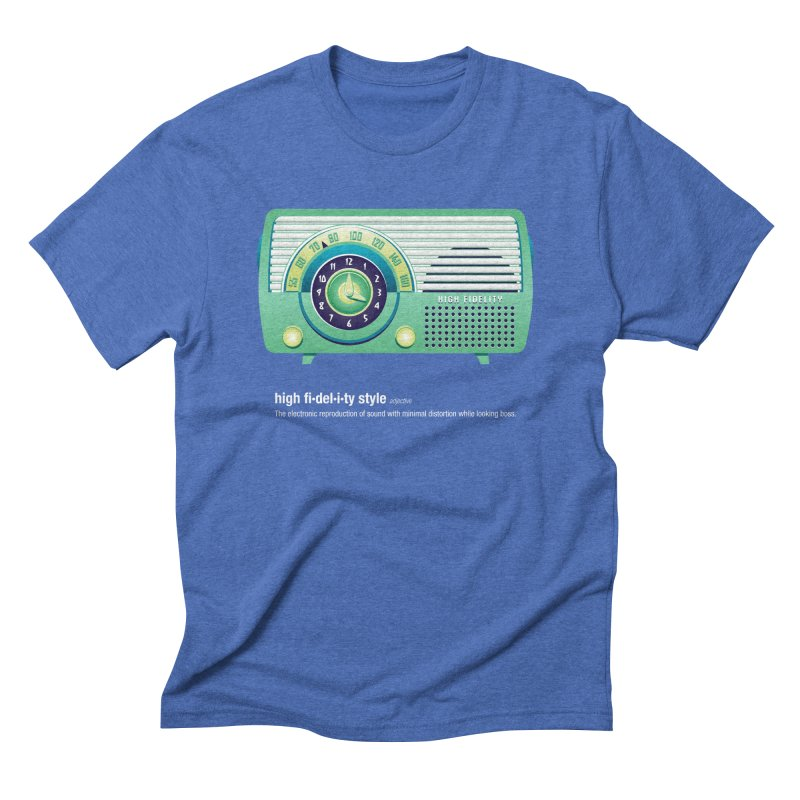 high fi·del·i·ty '52 in Men's Triblend T-shirt Blue Triblend by Ian Glaubinger on Threadless!
