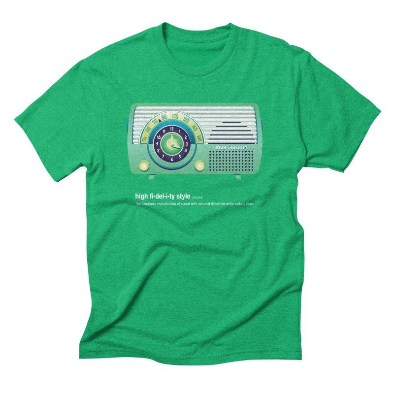high fi·del·i·ty '52 Men's Triblend T-Shirt by Ian Glaubinger on Threadless!
