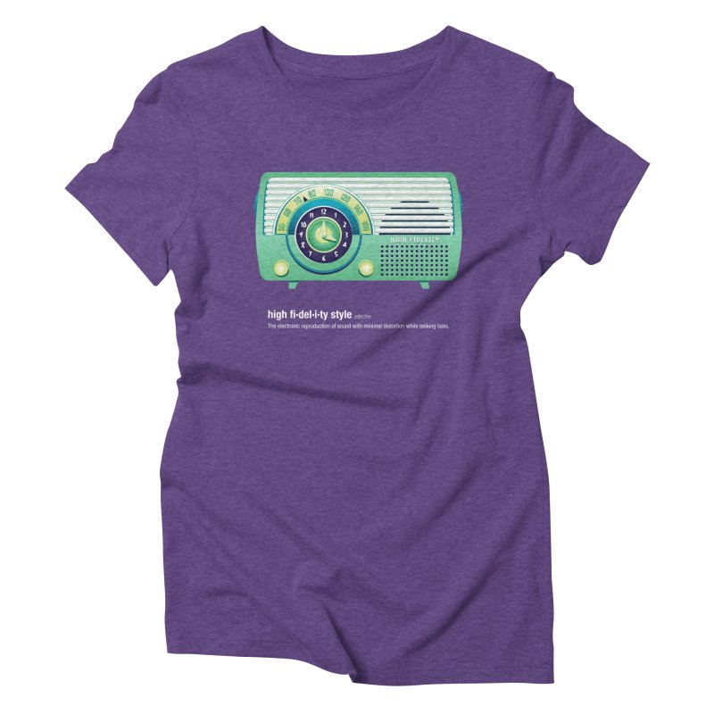 high fi·del·i·ty '52 Women's Triblend T-Shirt by Ian Glaubinger on Threadless!