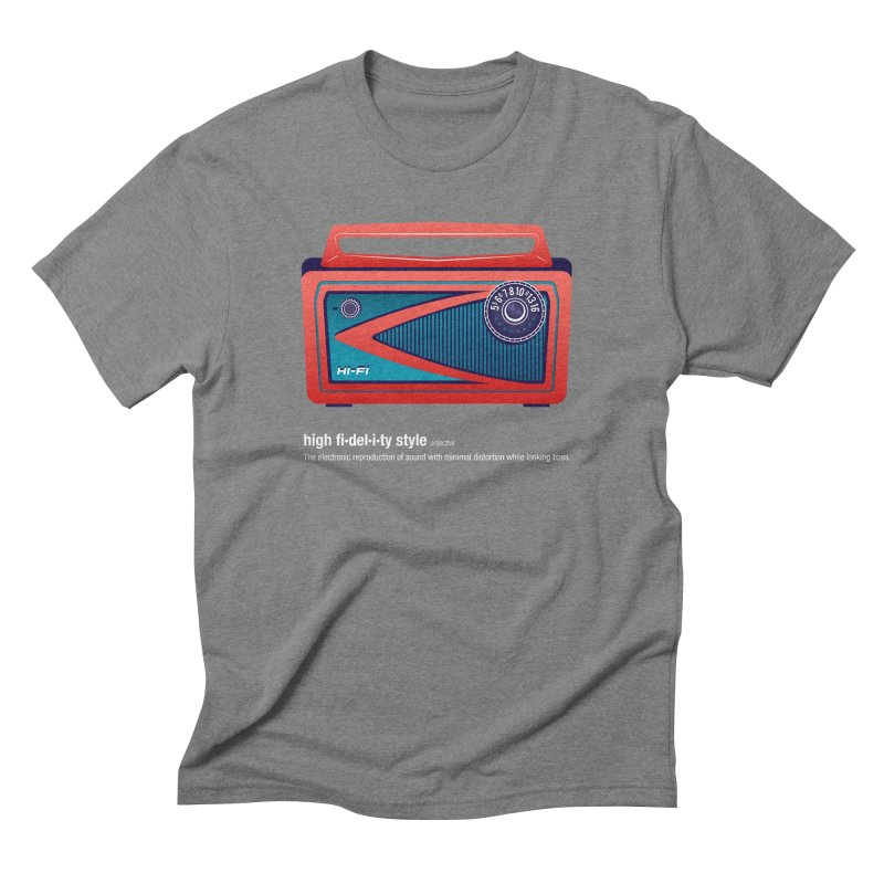 high fi·del·i·ty '57 Men's Triblend T-Shirt by Ian Glaubinger on Threadless!