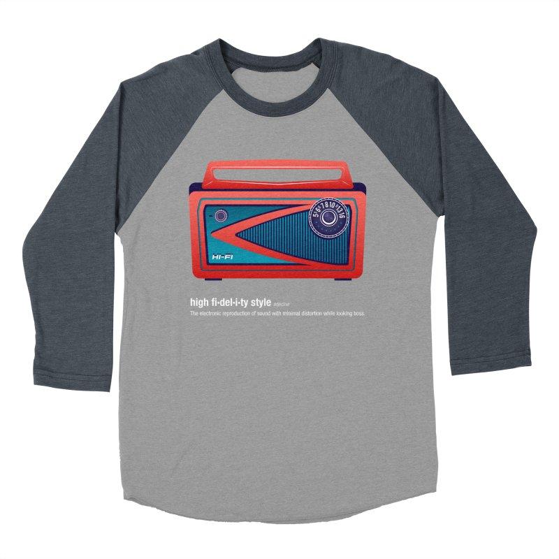 high fi·del·i·ty '57 Men's Baseball Triblend T-Shirt by Ian Glaubinger on Threadless!