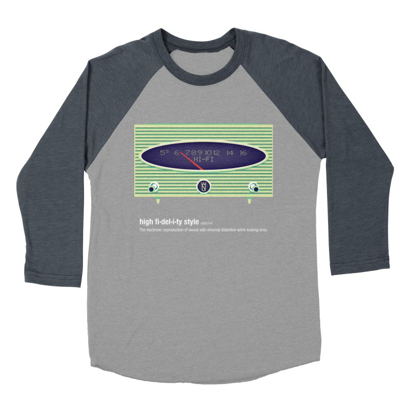 high fi·del·i·ty '56 Women's Baseball Triblend Longsleeve T-Shirt by Ian Glaubinger on Threadless!